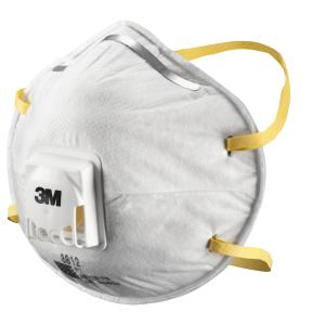 3m-8812 P1 Valved Dust/Mist Respirator Box 10