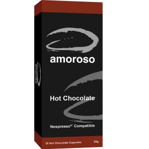 Amoroso Hot Chocolate Capsules Box 10