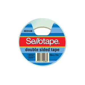 Sellotape 404 Double Sided Tape 18mmx33m Roll