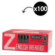 Zoetic Infusions Fairtrade Organic English Breakfast Tea Bags Pack 100