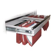 Steelco Tambour Cabinet Pull Out File Frame 900wmm Silver Satin