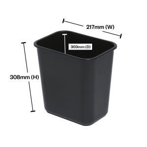 Winc Earth By Winc Waste Paper Bin Rectangular 12L Black