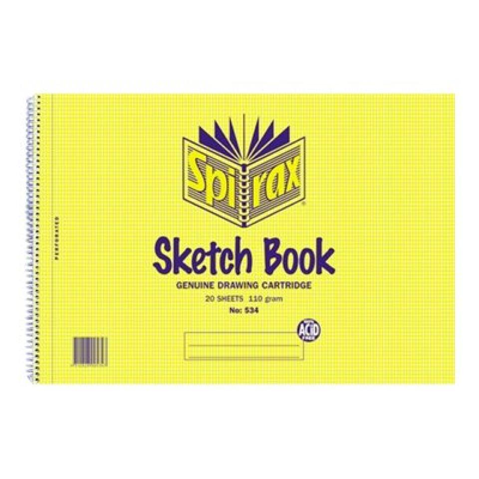 Spirax No.534 Sketch Book 20 Leaf 212X297mm A4