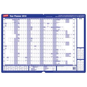 Staples 870X610mm Mounted Board Wall Planner 2018