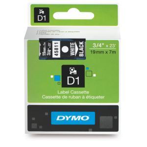 Dymo D1 Label Printer Tape 19mm x 7m White On Black