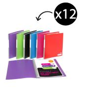 Marbig Display Book A4 Refillable 20 Pockets Assorted Pack 12