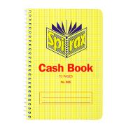 Spirax 565 Cash Book With Red Ruling 167x114mm 70 Page