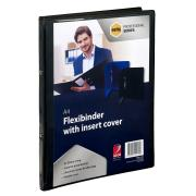 Marbig Professional Flexibinder Insert Cover 2 Ring 20mm A4 Black Each