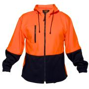 Prime Mover HV317 High Visibility Water Repellant Fleecy Hoody with Zip Front