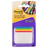 Post-It Durable Hanging File Folder Tabs 50.8 x 38mm Assorted Pack 4