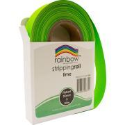 Rainbow Stripping Streamer Roll 25mmx30mm Lime