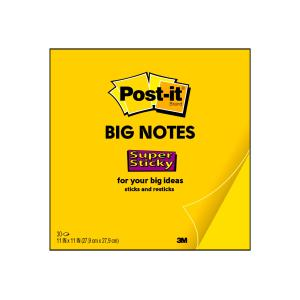 Post-it Super Sticky Big Notes Bright Yellow 279 X 279mm 30 Sheets