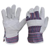 Paramount Safety 417Pb Gloves Candy Stripe Cow Split Leather Palm One Size Fits Most Pair
