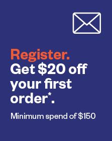 Register. Get $20 off your first order